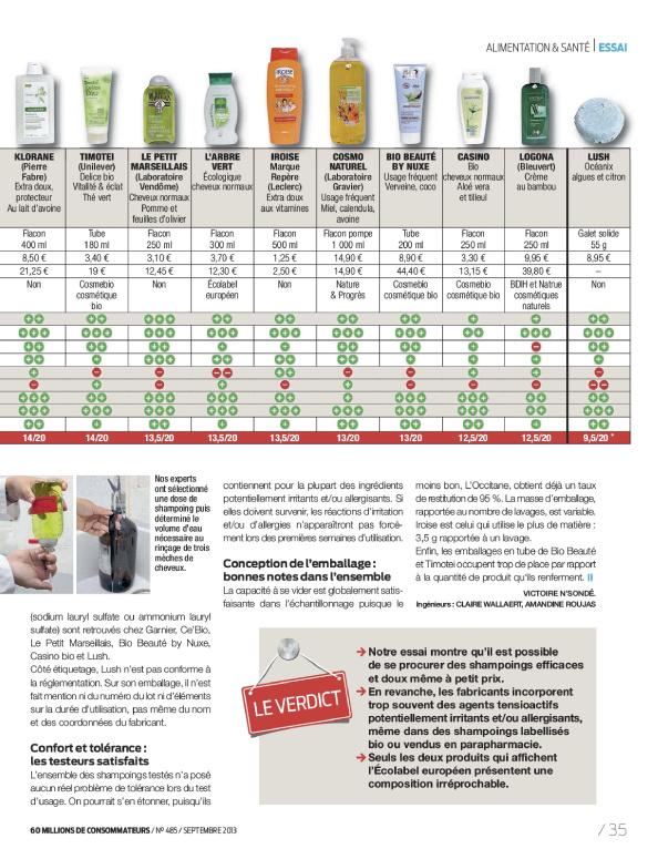 savon de marseille 60 millions de consommateur