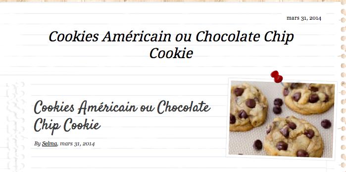 J'ai choisi de tester les fameux cookies.