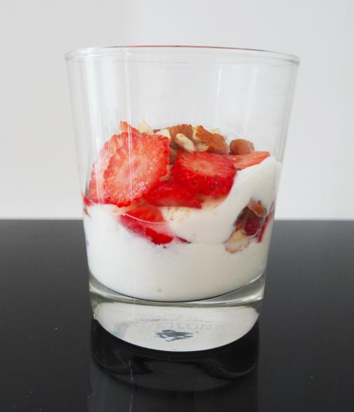 Verrine sucrée sans lactose
