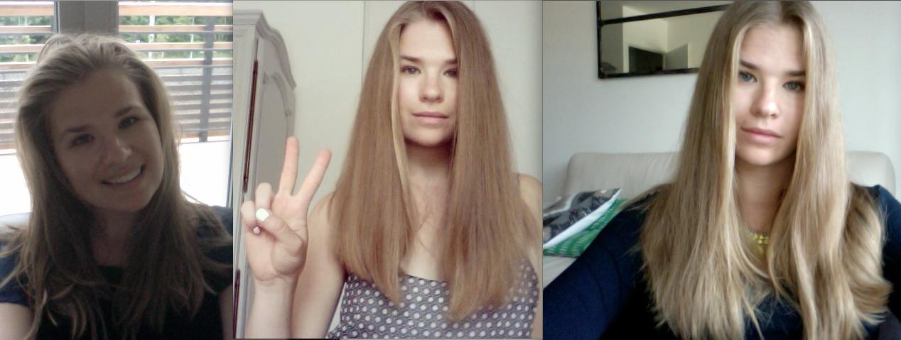 De gauche à droite : avril - juin - septembre