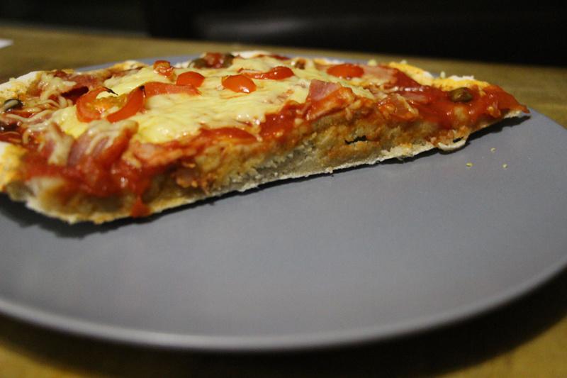 Vous noterez le côté sain sans fromage et sans jambon (c'est le mien hihi)