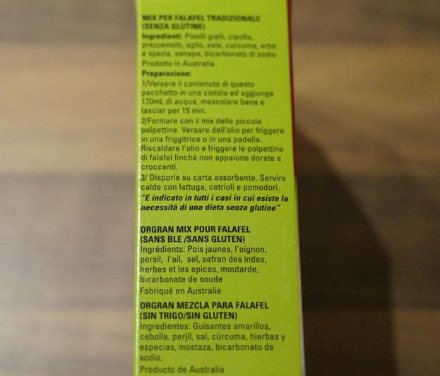Falafels sans gluten et sans lactose