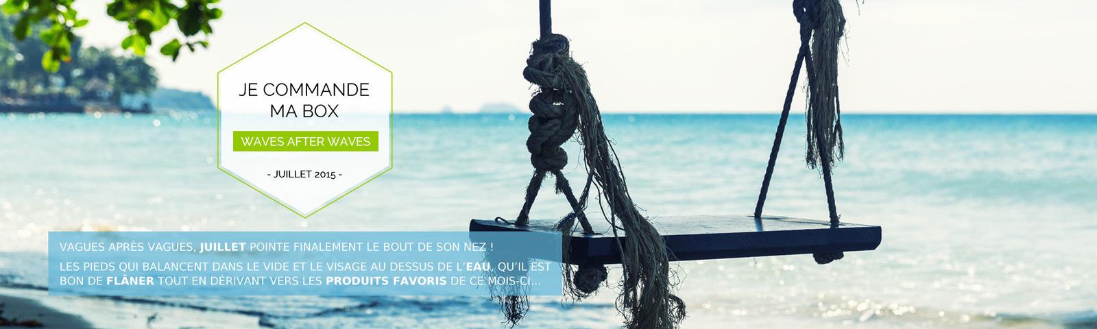 Cap sur les vagues ! Ou pas...#mysweetiebox