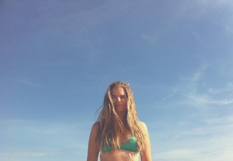 Session gainage sur la plage... Normal....