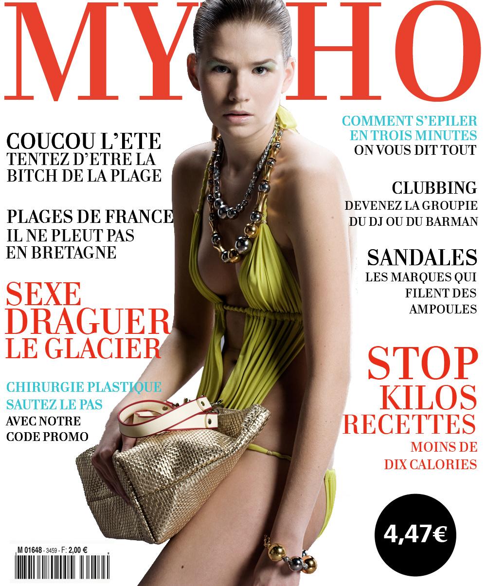 Mytho Magazine : la seule fois de ma vie où j'ai fait la couv' (bien entendu maquillée, coiffée et photoshopée)