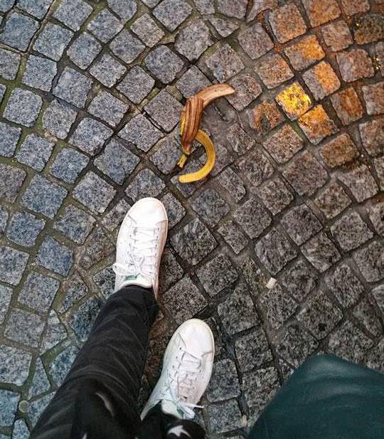 Les peaux de bananes c'est comme les mecs bien : on les voit et on les fuit &#x3B;)